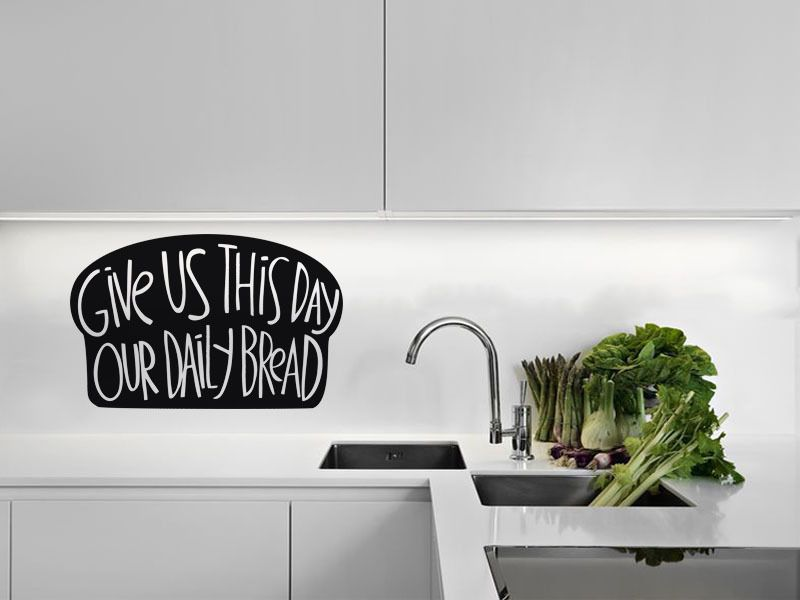 Kitchen Wall Quote Our Daily Bread Vinyl Wall Sticker